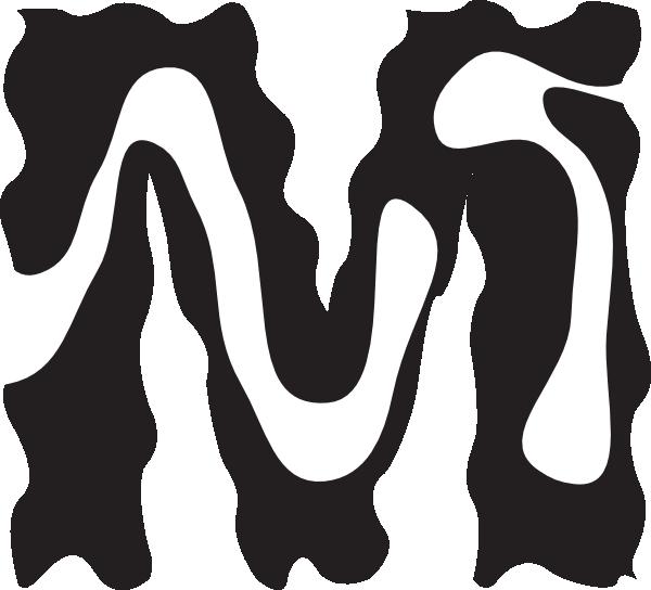 600x544 Letter M Zebra Style Clip Art
