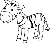 195x167 Zebra Clipart Black And White