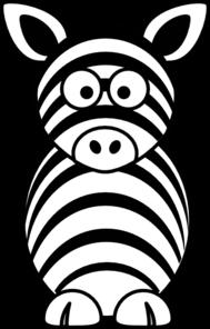 189x296 Black White Zebra Clip Art
