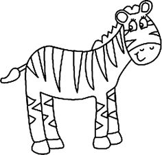 236x227 Cute Zebra animal coloring pages for kids For the Home