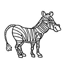230x230 Top 20 Free Printable Zebra Coloring Pages Online