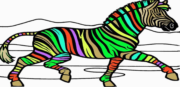 620x300 Zebra Coloring Pages