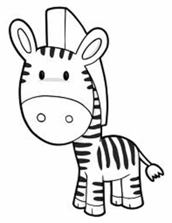 600x777 Animal Zebra Coloring Pages For Kids Zebra Coloring Pages Animals