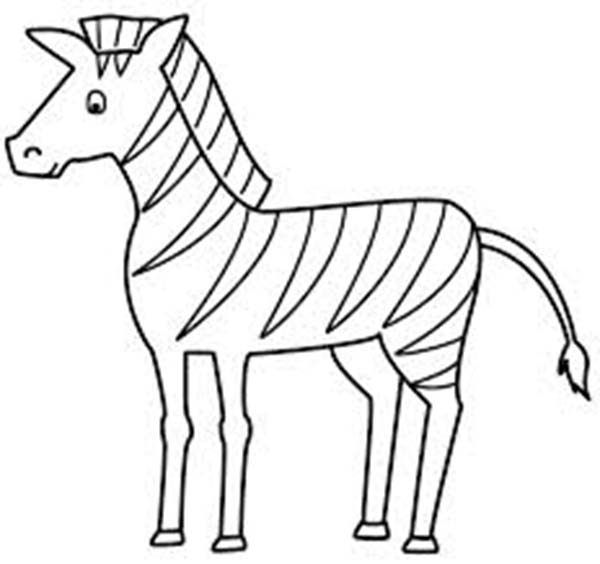 600x564 Zebra coloring pages for toddler