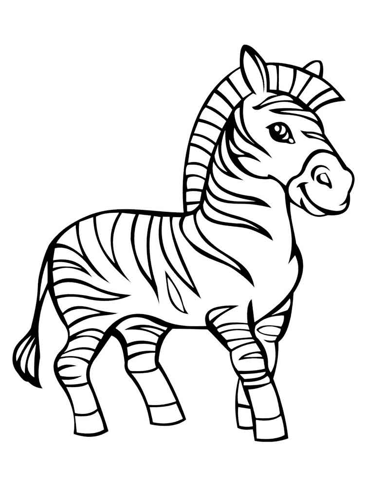 750x1000 Zebra coloring pages. Download and print zebra coloring pages