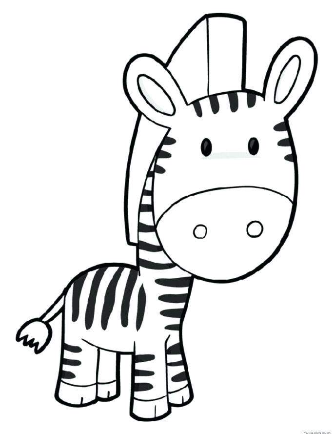 687x889 Printable Zebra Pictures