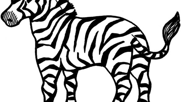 585x329 Color Word Coloring Pages FunyColoring Of Zebra Page We Are All