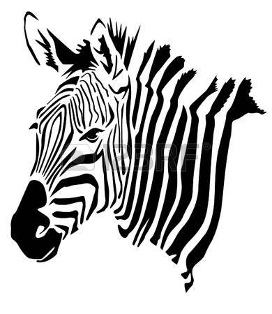 390x450 Drawn Zebra Head