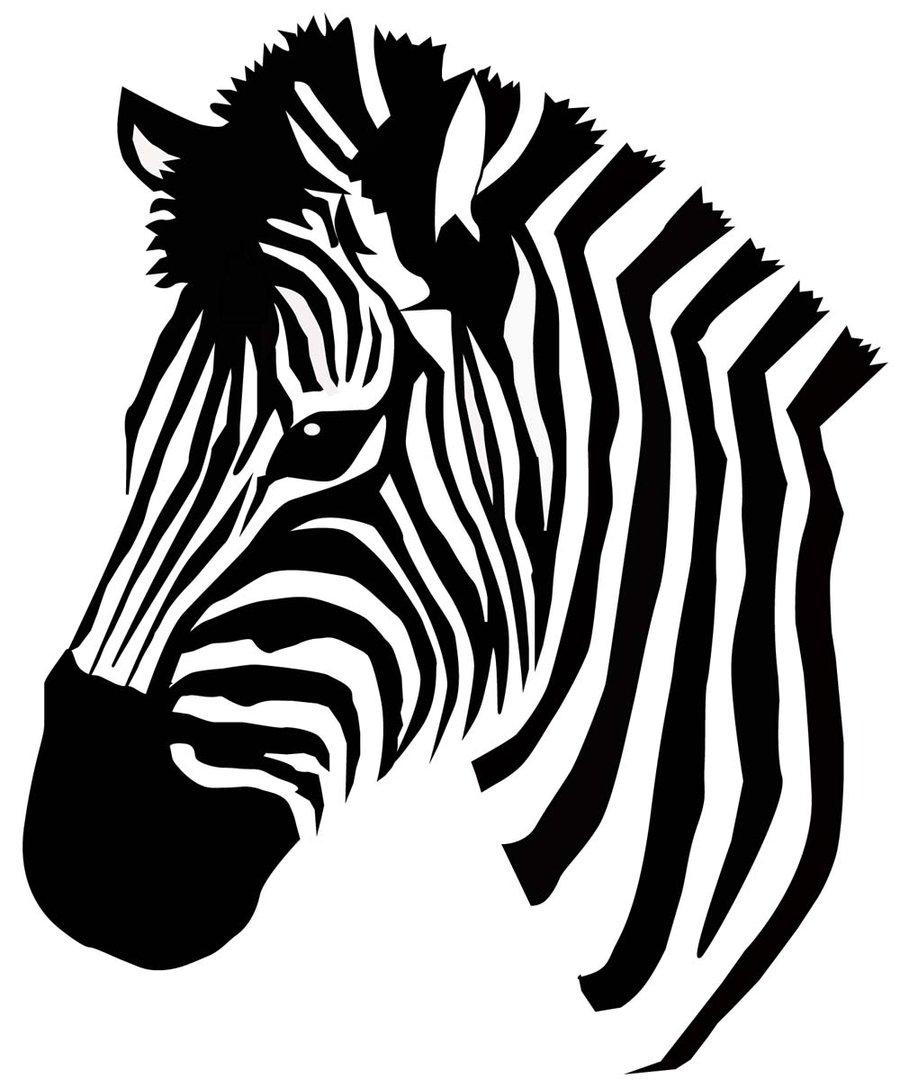 900x1088 Drawn Zebra Silhouette