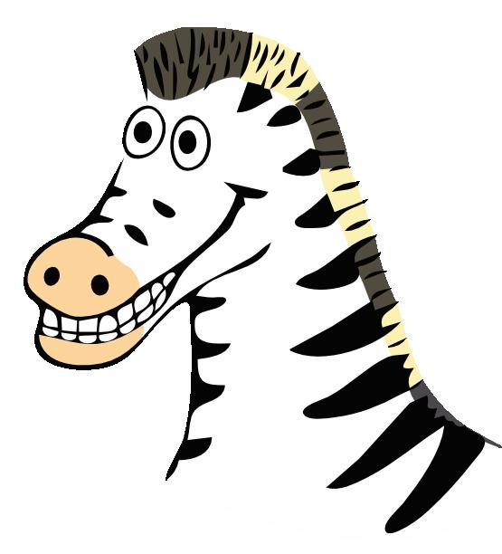 555x612 Free Funny Zebra Head Clip Art