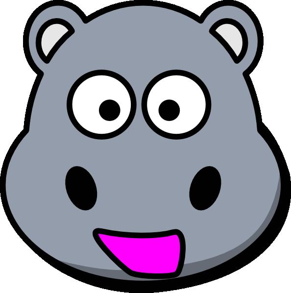 594x598 Hippo Head Clip Art