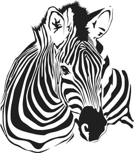 440x500 Stripes Clipart Zebra Head