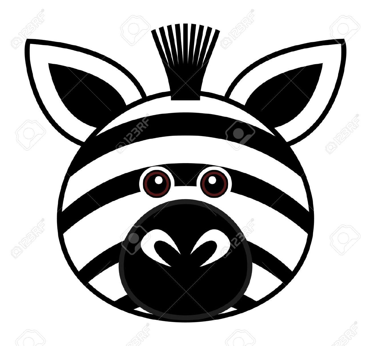 1300x1213 Cute Zebra Head Clipart