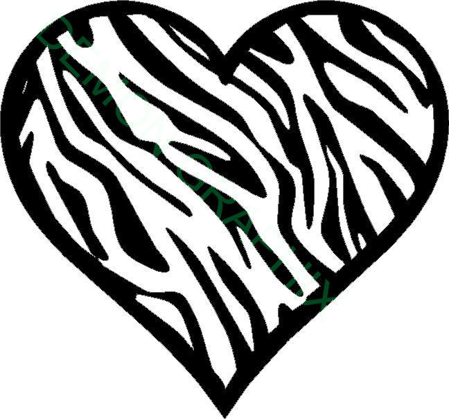 648x604 Graphics For Zebra Print Heart Graphics