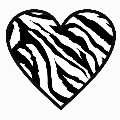 500x500 Heart Clipart Zebra Print