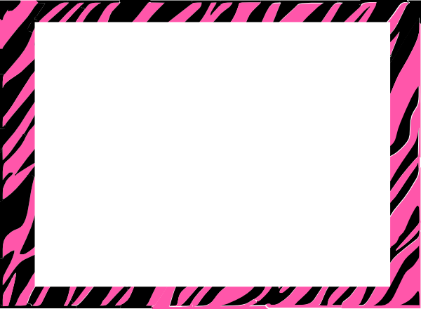 600x440 Pink And White Zebra Print Background Clip Art