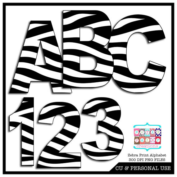 570x570 Zebra Print Letters Clip Art 101 Clip Art