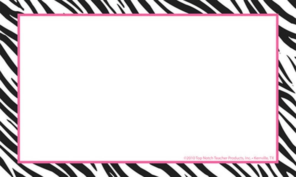 1000x600 Zebra Print Border Clip Art Clipart Panda