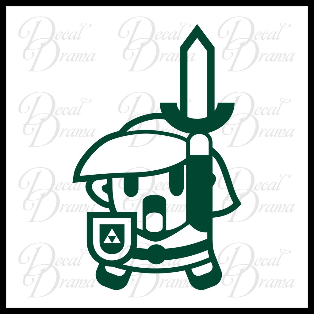 1024x1023 Link Cartoon Legend Of Zelda Decal Vinyl Carlaptop Decal Decal