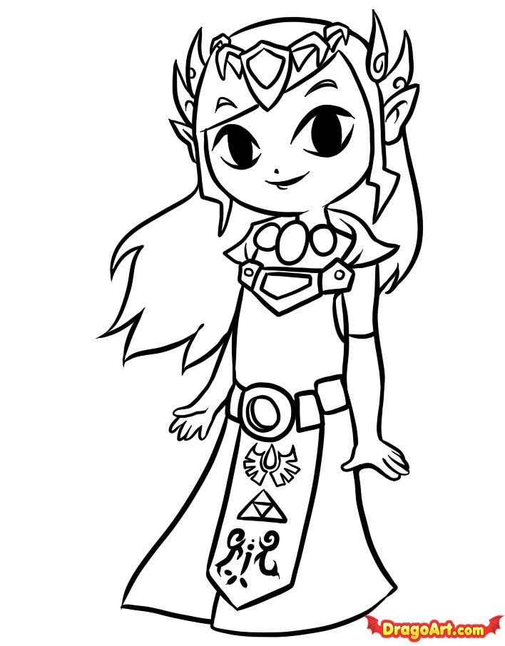 Único Leyenda De Zelda Link Coloring Pages Embellecimiento - Ideas ...