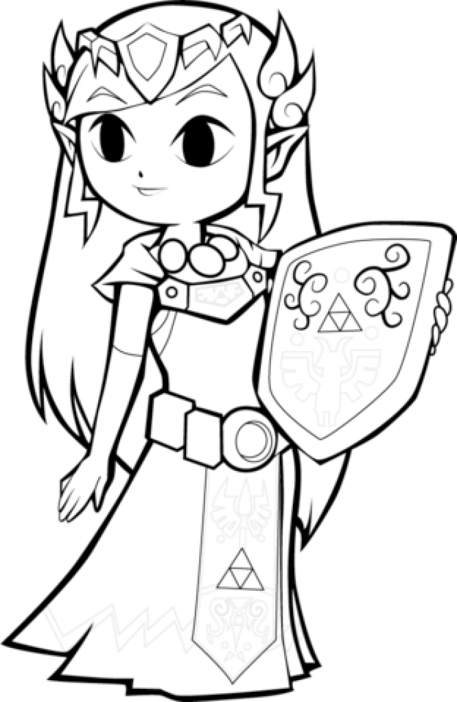 Zelda Coloring Pages Free Download Best Zelda Coloring