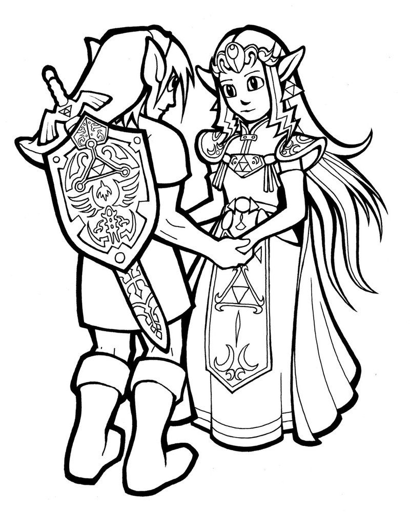 Zelda Coloring Pages | Free download on ClipArtMag