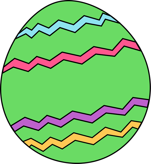 505x550 Green Zig Zag Easter Egg Clip Art
