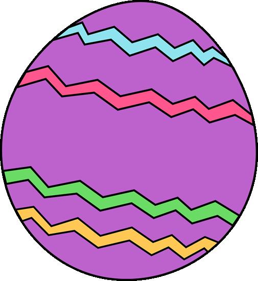 505x550 Purple Zig Zag Easter Egg Clip Art