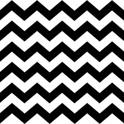 500x501 Black And White Zig Zag Pattern
