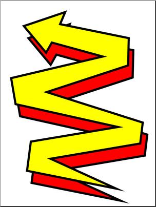 304x404 Clip Art Zig Zag Color I Abcteach