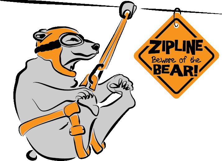 714x518 Zipline Beware Of The Bear