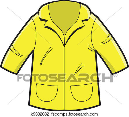 450x409 Clipart Of Raincoat K9332082