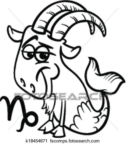 413x470 Clipart Of Capricorn Or The Sea Goat Zodiac Sign K18454671