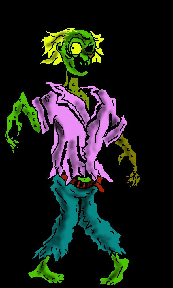 600x1000 Free Zombie Clip Art