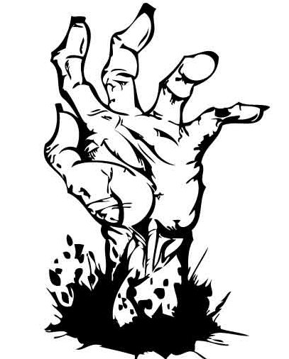 407x506 Zombie Hand Clipart