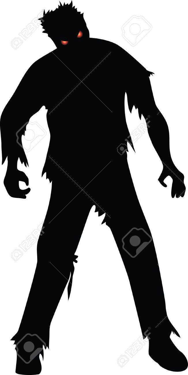 652x1300 Zombie Clipart Shadow