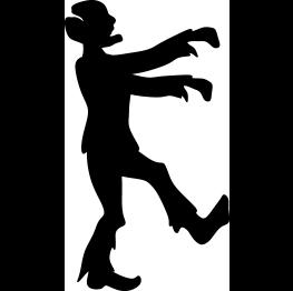 263x262 Zombie Clipart Silhouette