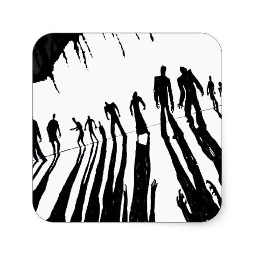 512x512 Zombie Halloween Clip Art Image 2