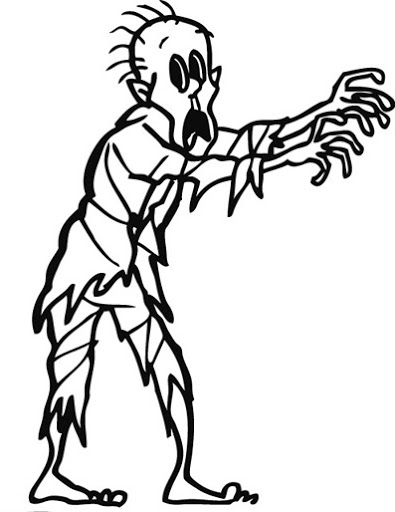 395x512 Zombie Coloring Pages