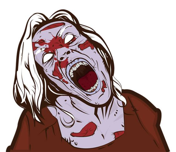 564x488 Free Scary Zombie Girl Vector Free Vectors Zombie