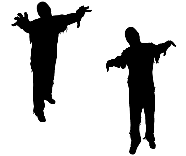 600x505 Zombie Head Silhouette Godstyle Keywords And Pictures