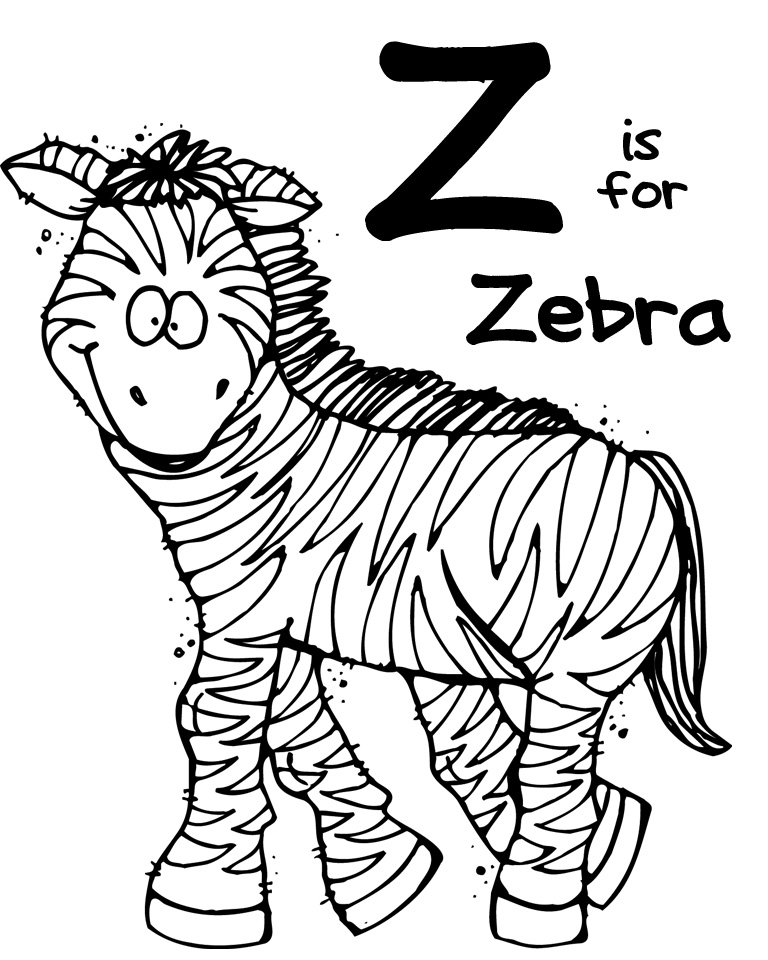 768x960 Animal Zoo Animal Coloring Pages Z For Zebra Zoo Animal Coloring