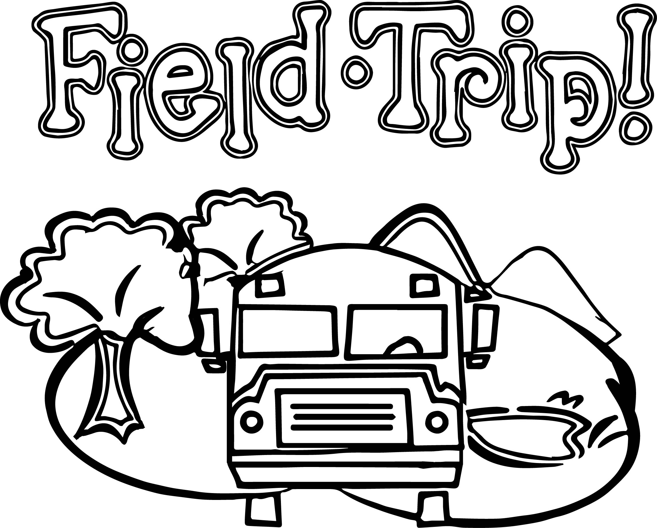 2292x1844 Zoo Field Trip Bus Coloring Page Wecoloringpage