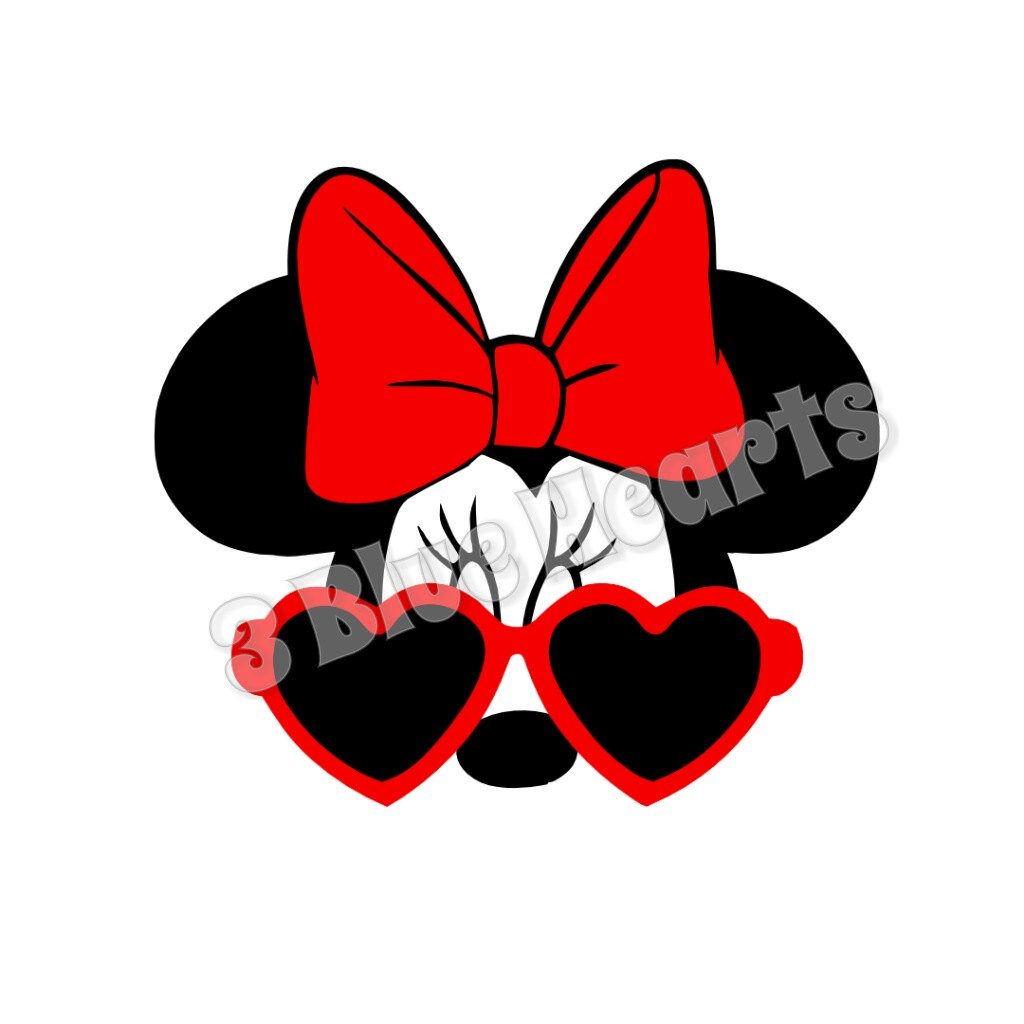 1024x1024 Minnie Mouse With Glasses Clipart Amp Minnie Mouse With Glasses Clip