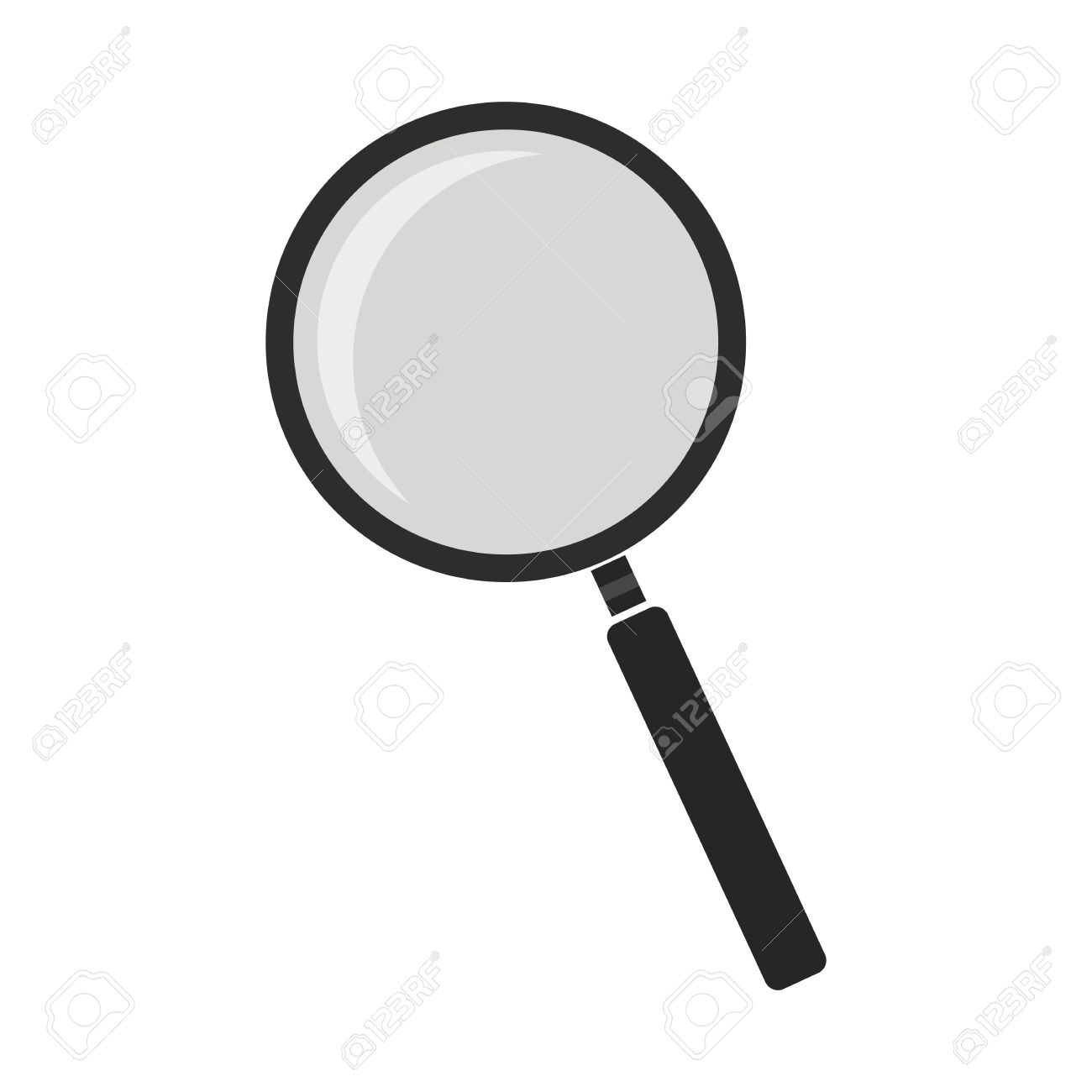 1300x1300 Tool Outline Clipart. Magnifying Glass Tool Zoom Icon Vector Color