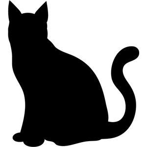 Outline of a black cat