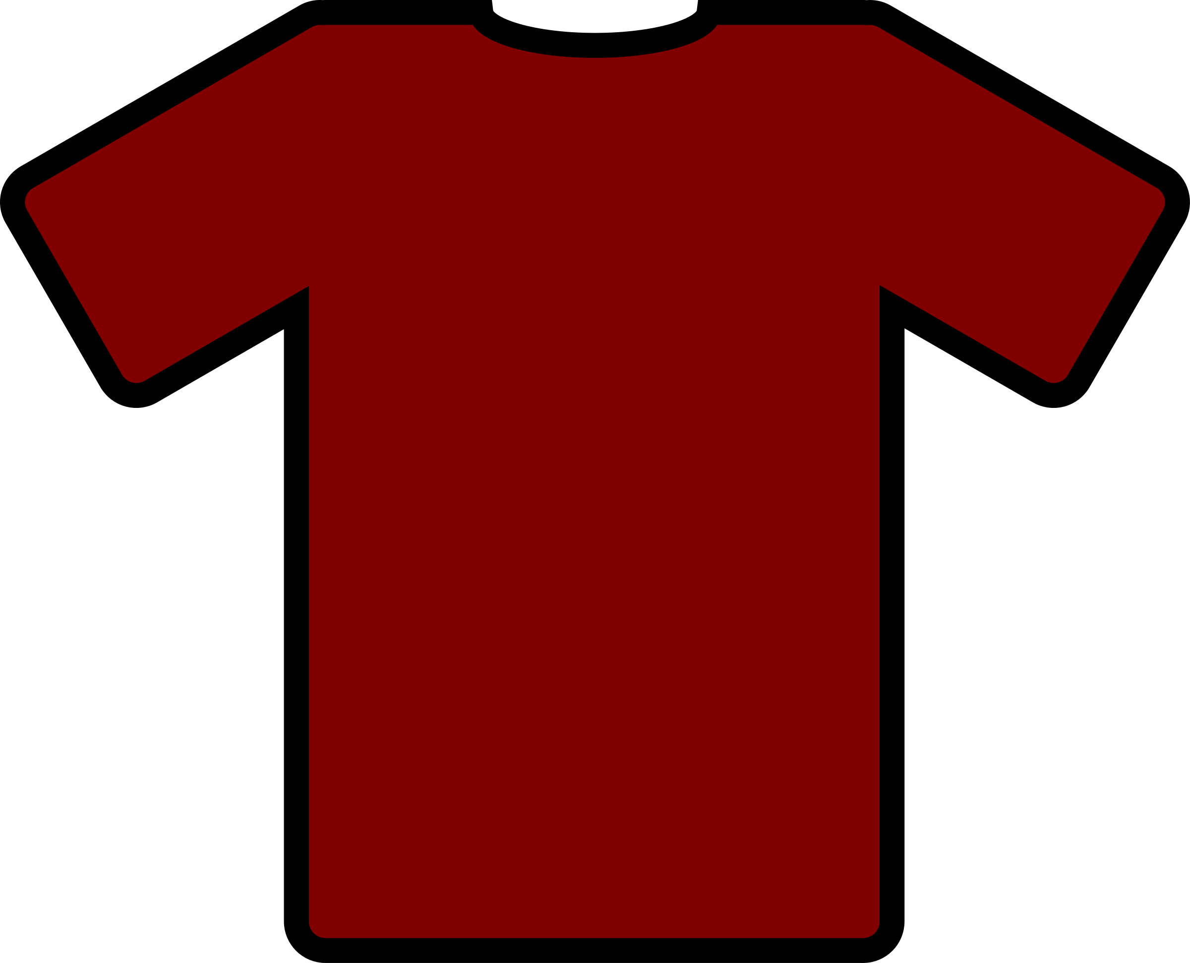 Red T-shirt Clipart Png