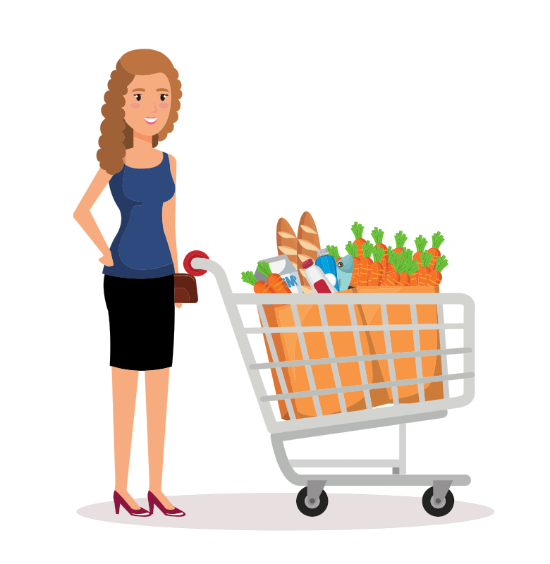 Shopping Lady Clipart
