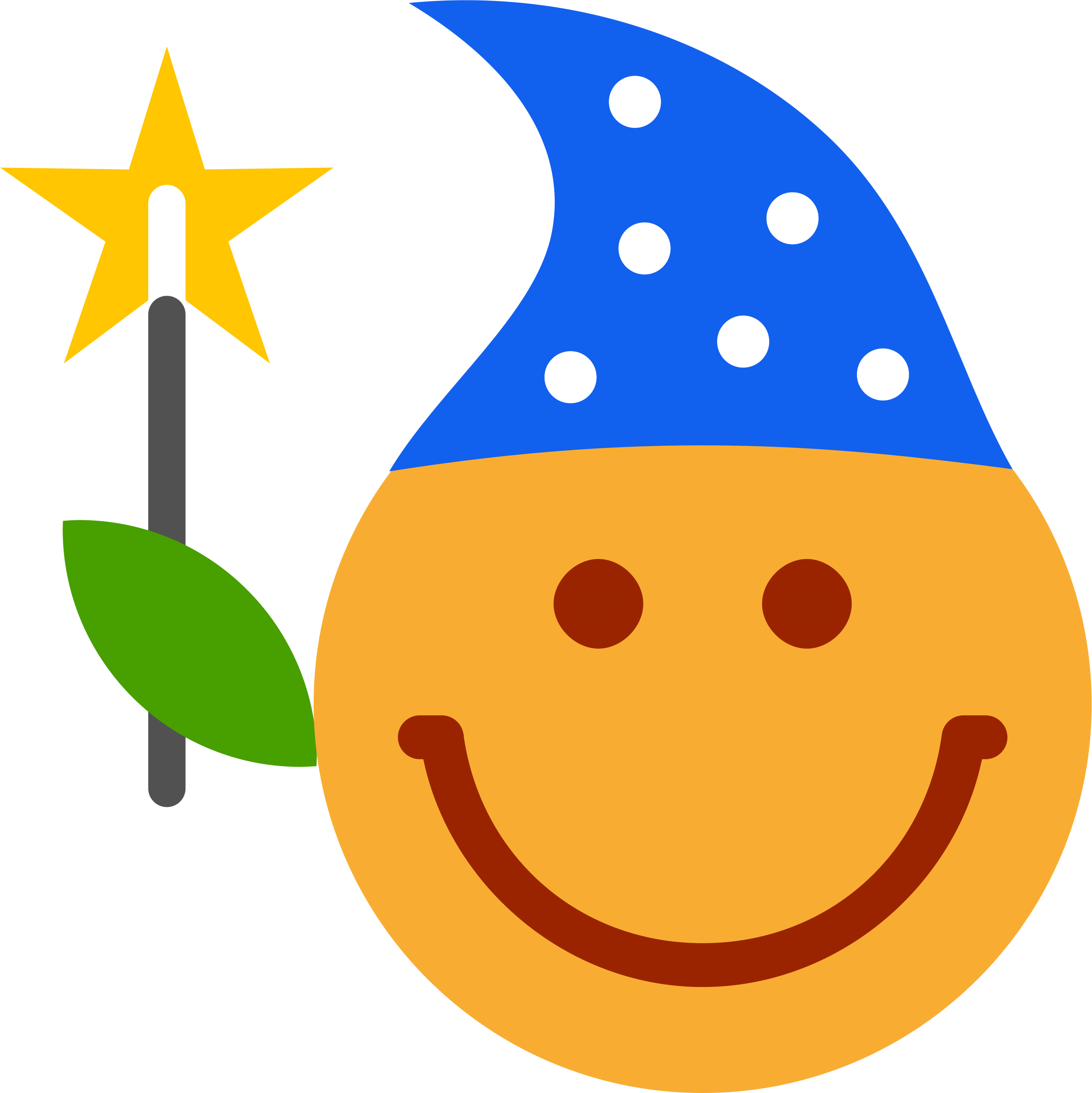 Smiley Magician Clipart